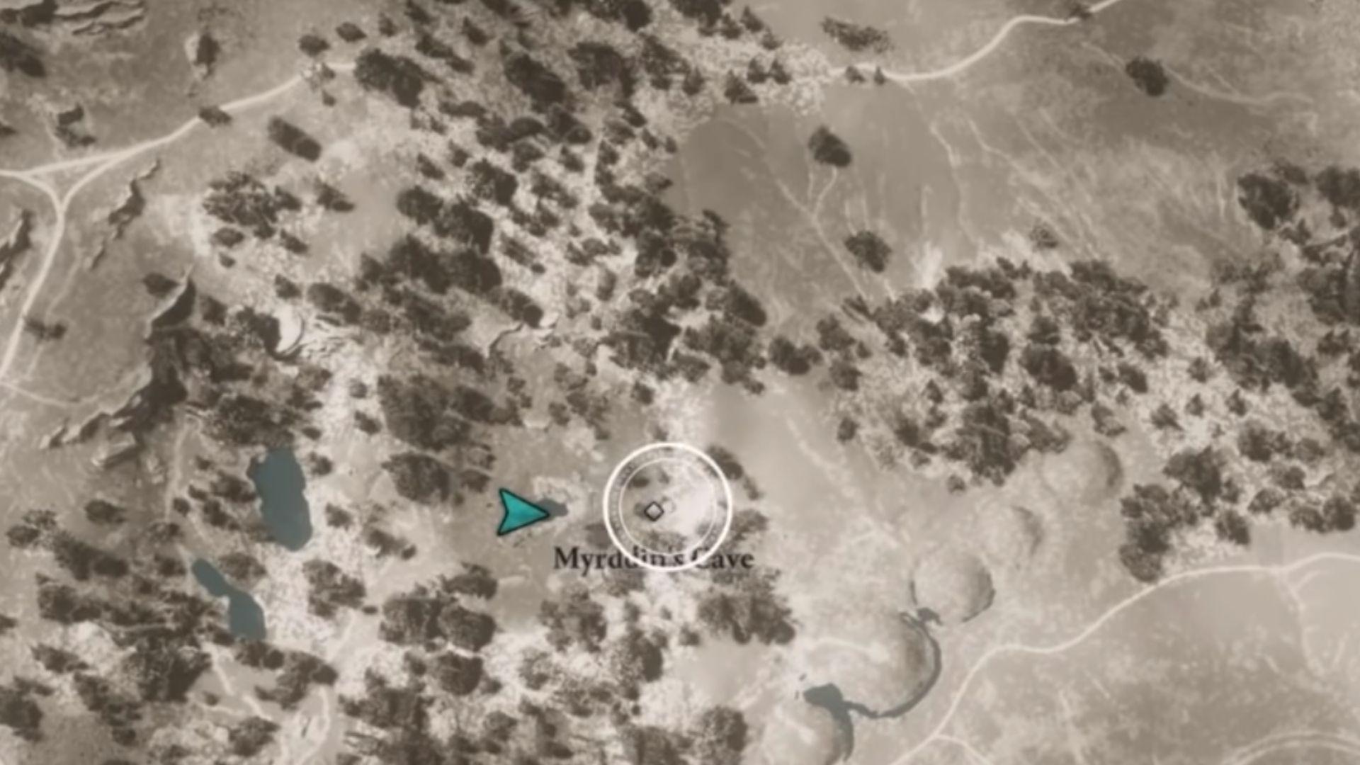 Myrddin's Cave location