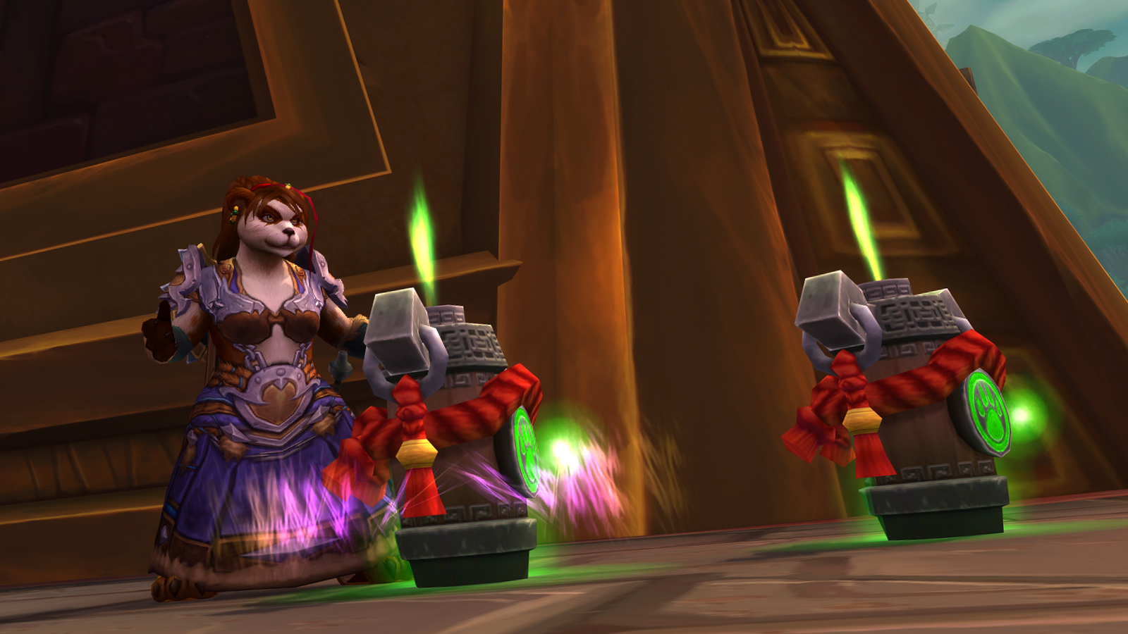 Pandaren Shaman with Totems in Zandalar