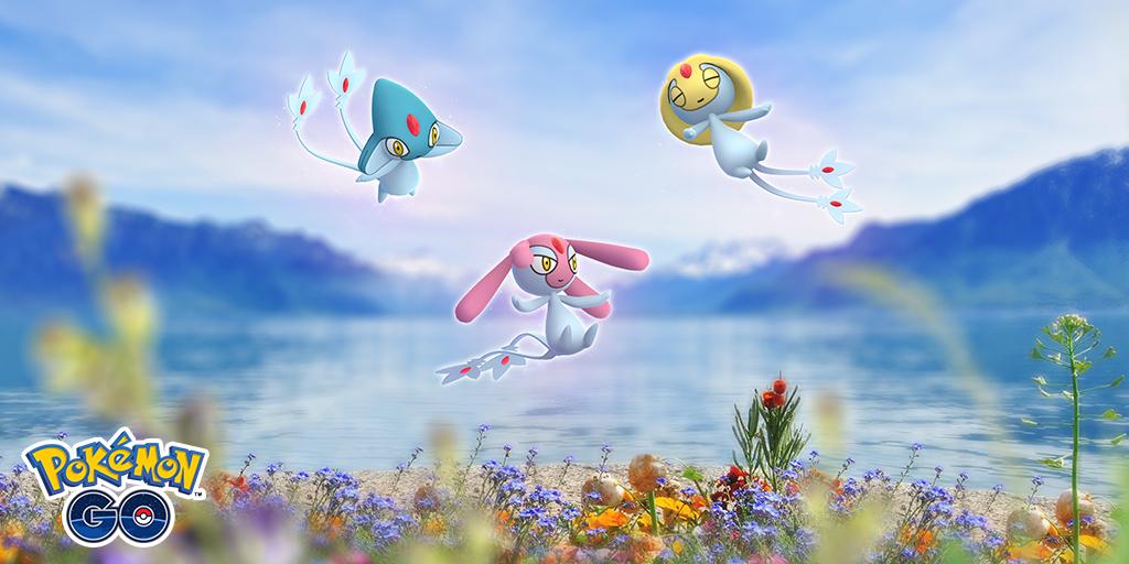 Screenshot of Pokemon GO legendary monster for Lake of Legends event.