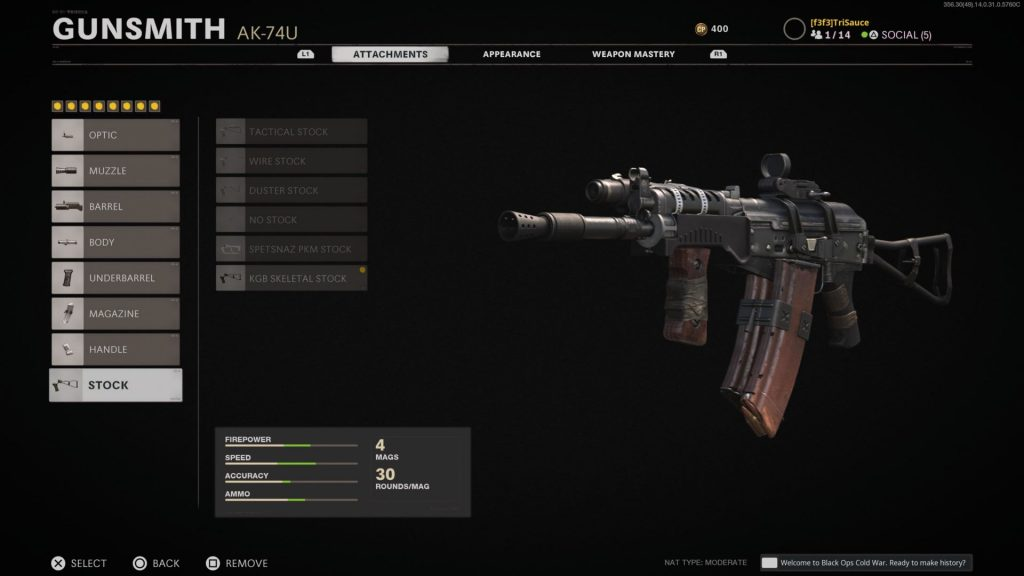 Black Ops Cold War Ak-74u
