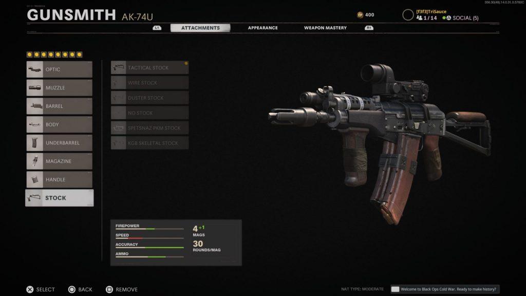 Black Ops Cold War Ak-74u