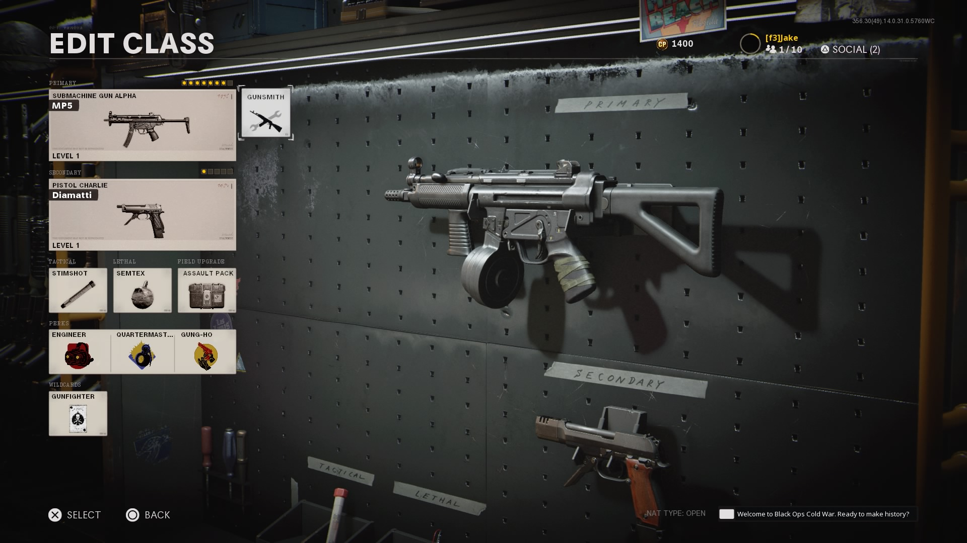 Black Ops Cold War rushing MP5 class