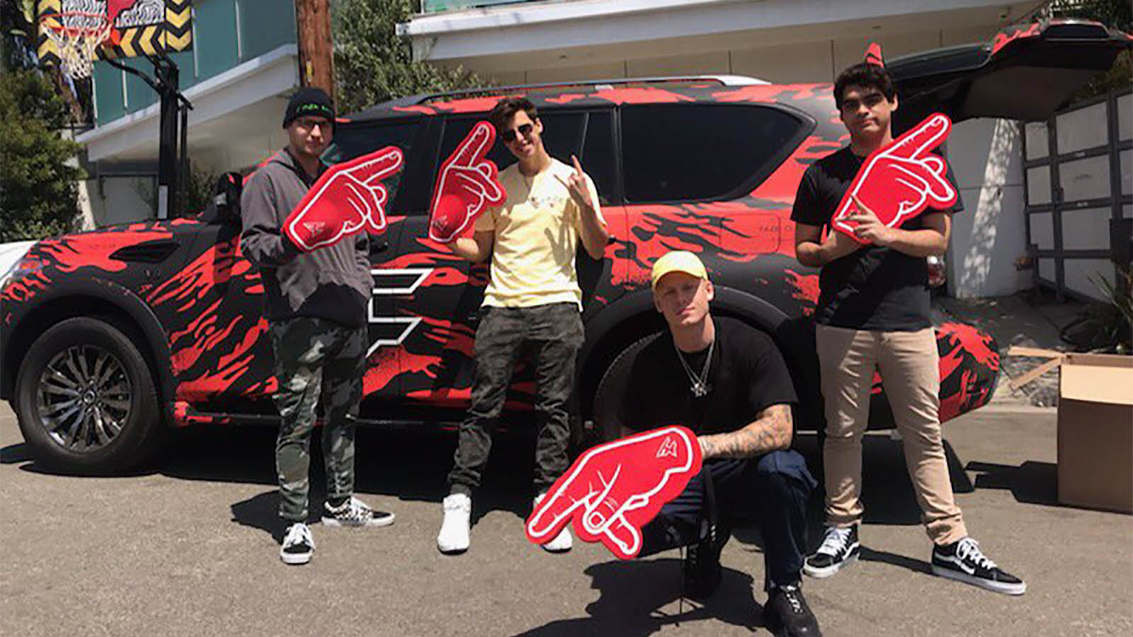 FaZe Clan with Car