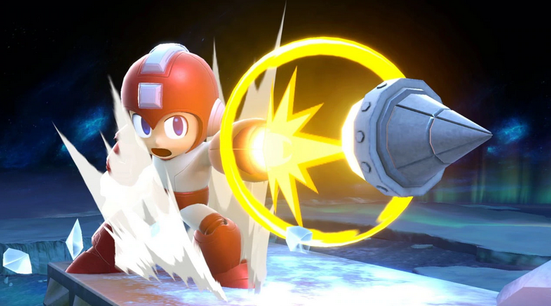 Megaman attacks in Smash