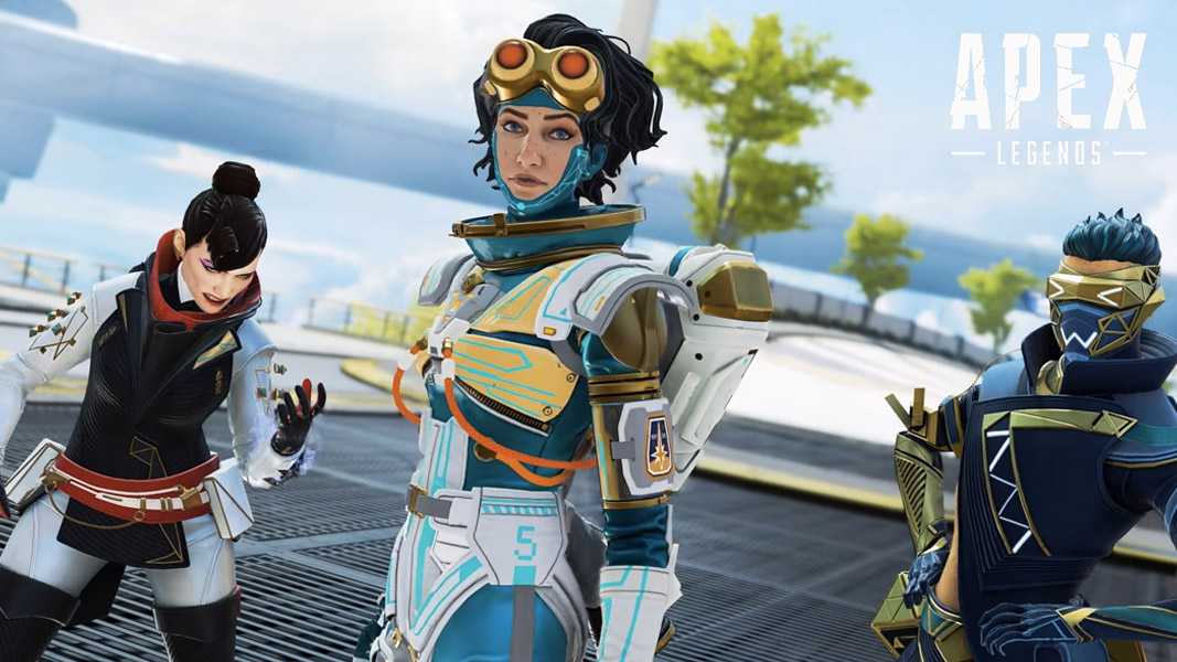 Wraith, Horizon, and Octane in Apex Legends