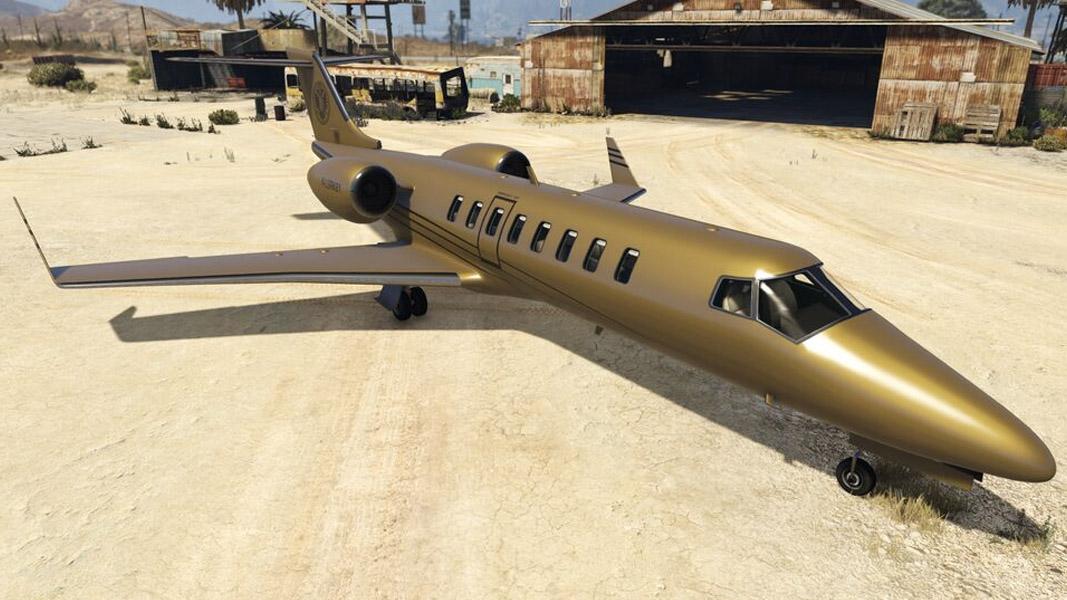 Luxor Deluxe jet from GTA Online