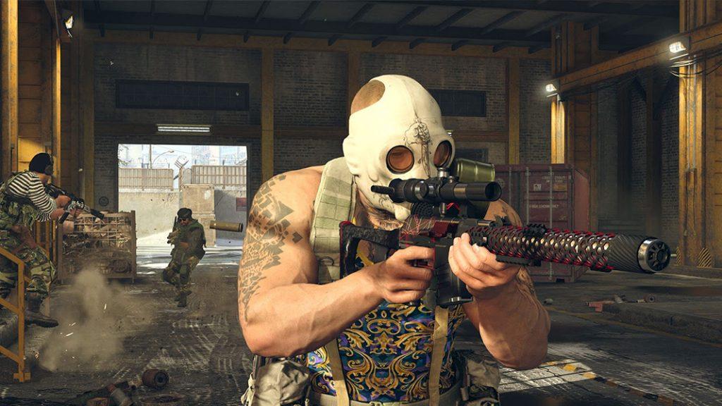 Warzone operator running with gun
