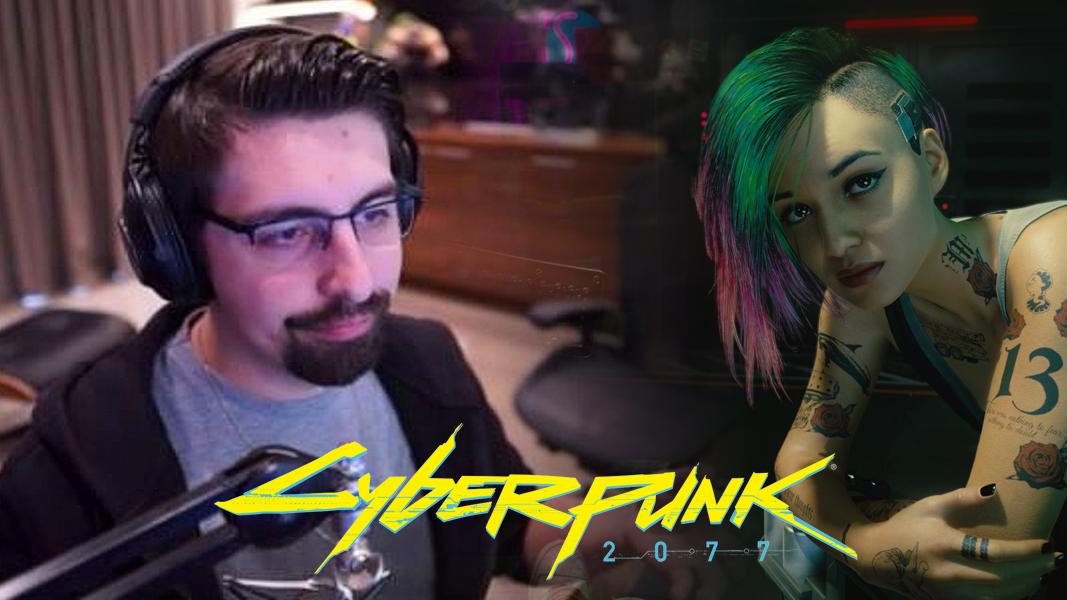 Shroud next to Cyberpunk 2077