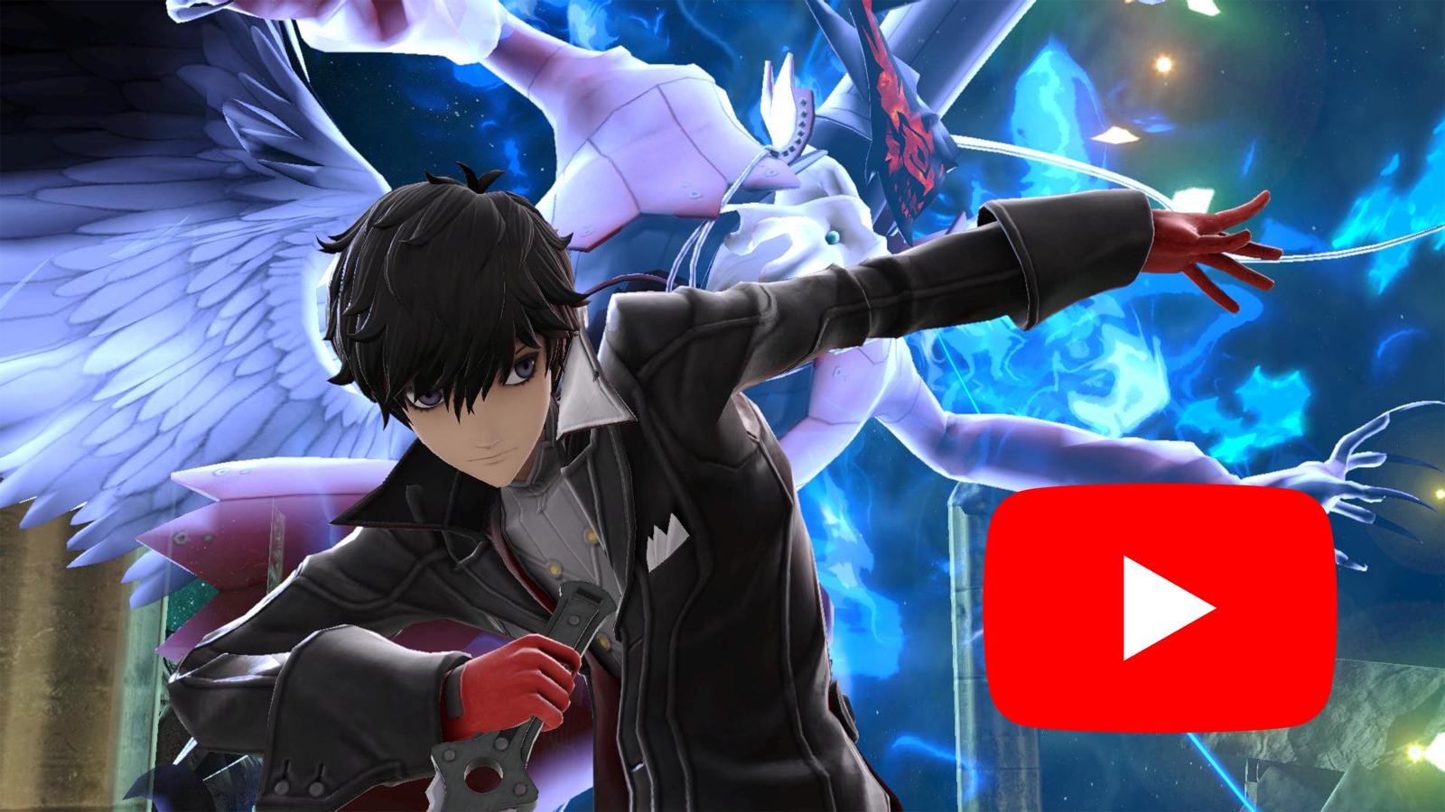 Joker in Smash Ultimate with YouTube Logo