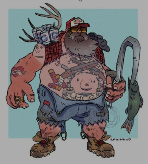 Roadhog backwoods Overwatch skin