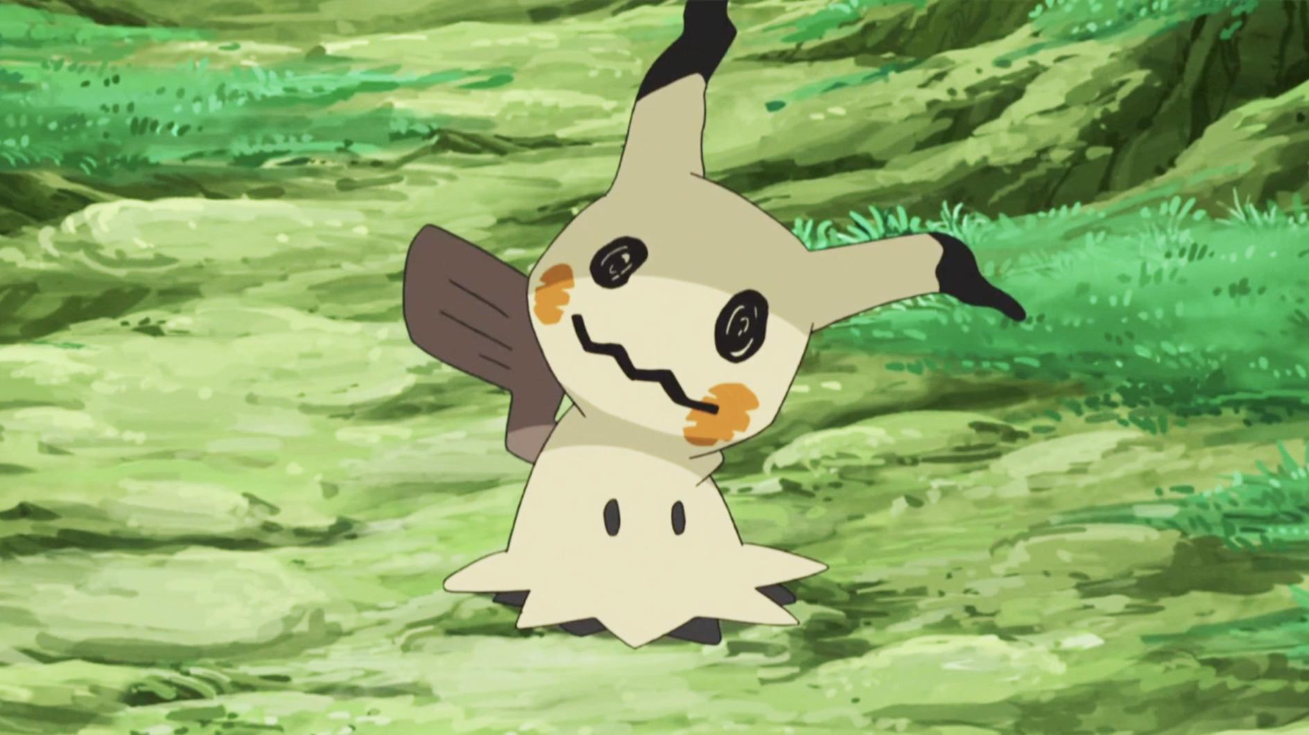 Screenshot of Pokemon Mimikyu from Sun & Moon anime.