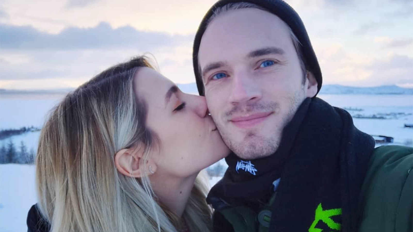 Instagram upload of YouTuber PewDiePie and his wife Marzia.
