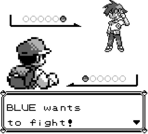 Screenshot from Pokemon Red & Blue from 1998.