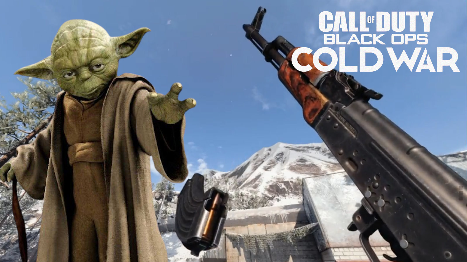 Yoda uses the force to reload gun in Black Ops Cold War