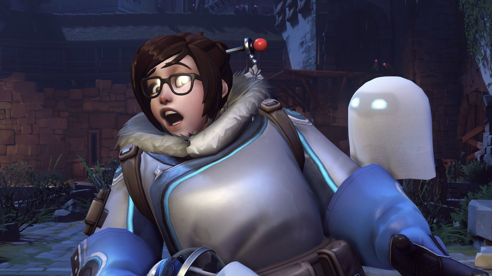 Mei is scared of ghosts