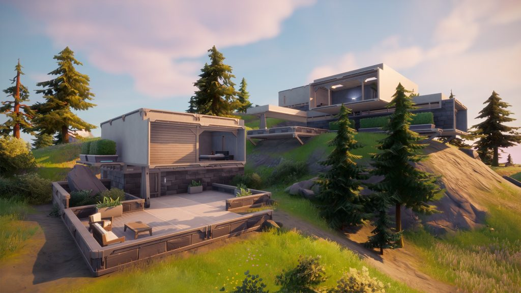 """The """"Hunters Haven"""" POI is hidden in the southern mountains of Fortnite's changed Season 5 map."""
