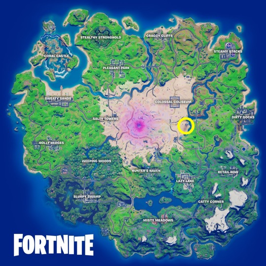 Mandalorian location fortnite season 5