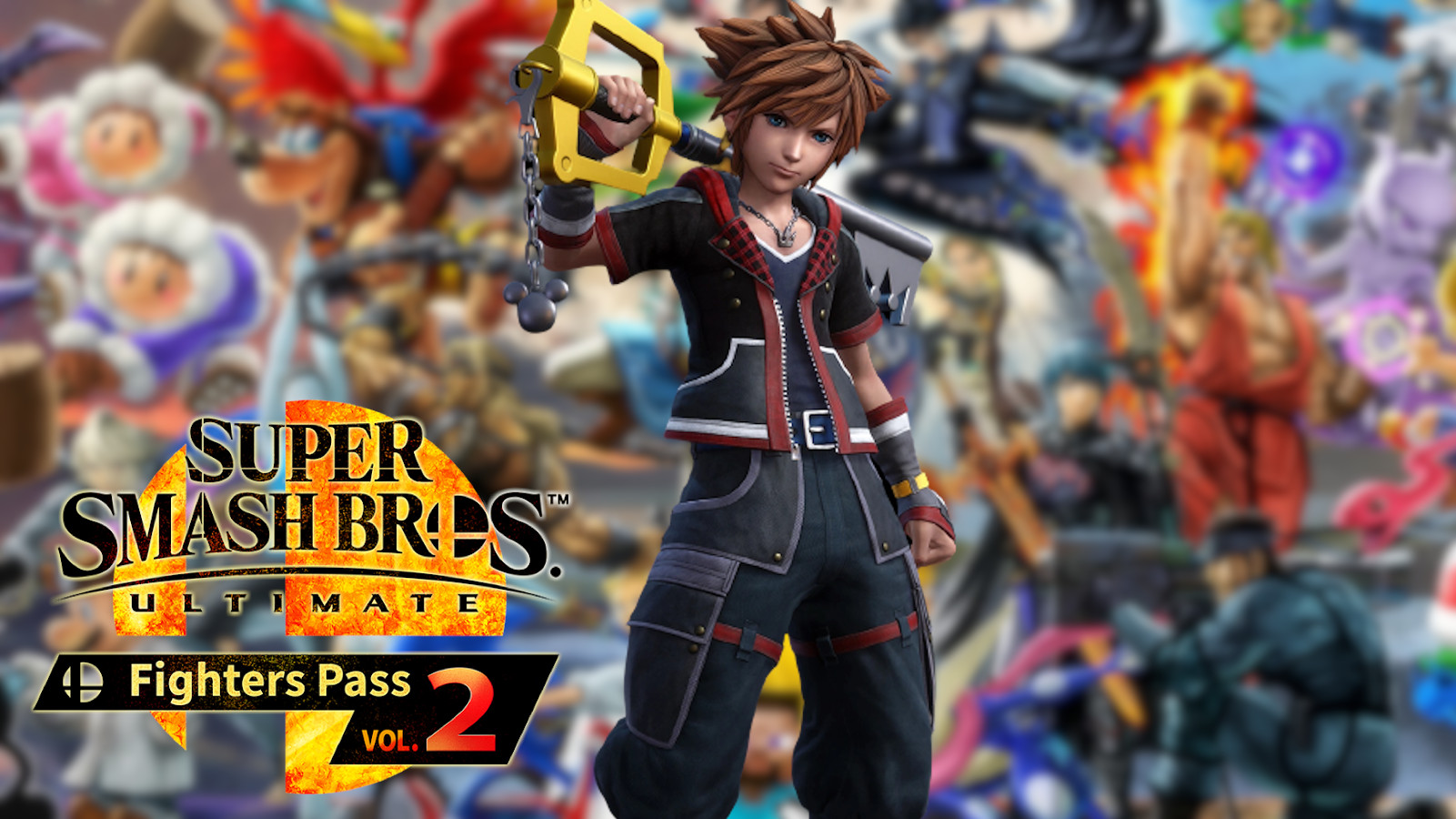 Sora from Kingdom Hearts in Smash Ultimate Fighters Pass Volume 2