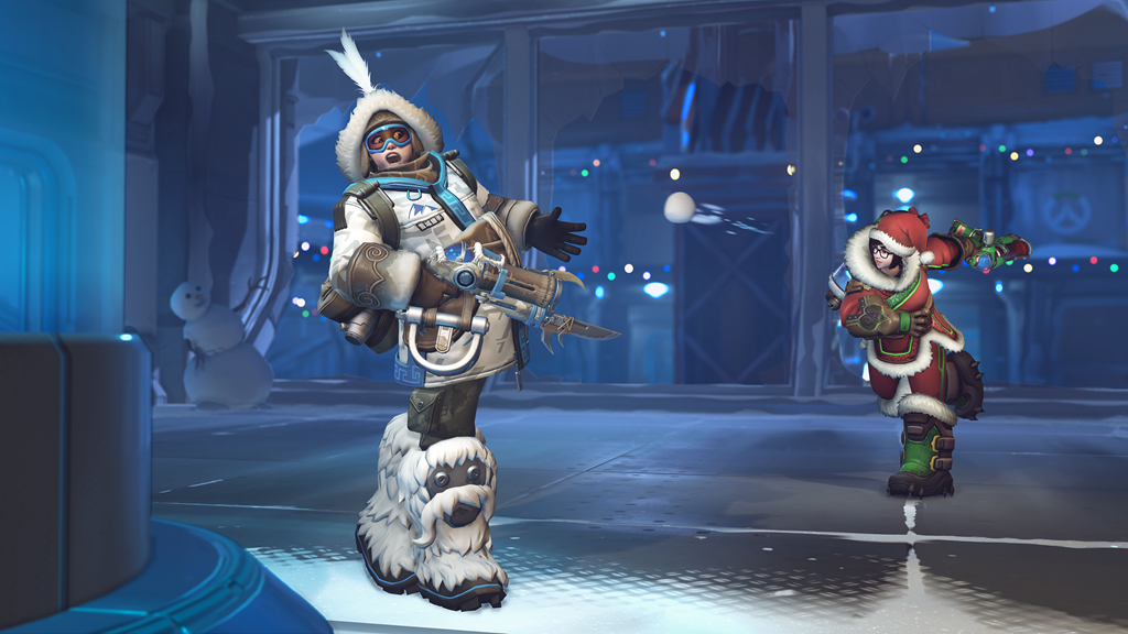 Mei hit with snowball in Overwatch