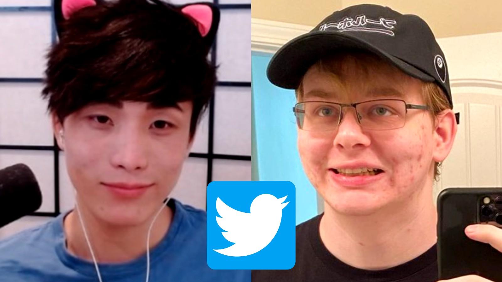 Sykkuno next to CallMeCarson alongside the Twitter logo