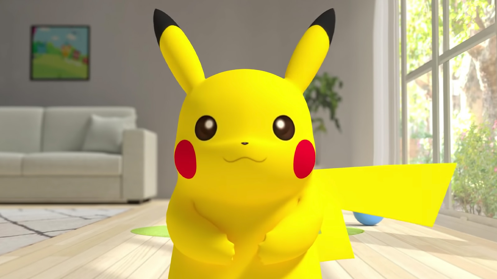 Screenshot of Pokemon mascot Pikachu doing ASMR on YouTube.