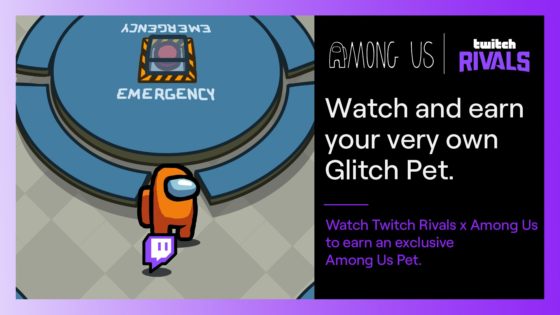 Among Us Glitch pet from Twitch Rivals
