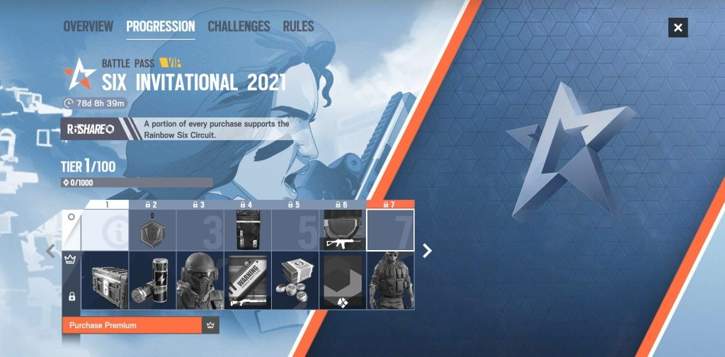 Rainbow Six Invitational 2021 battle pass