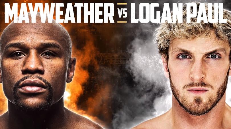 Logan Paul vs Floyd Mayweather fight poster