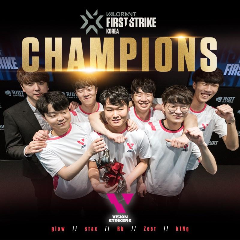 Vision Strikers win Valorant First Strike Korea