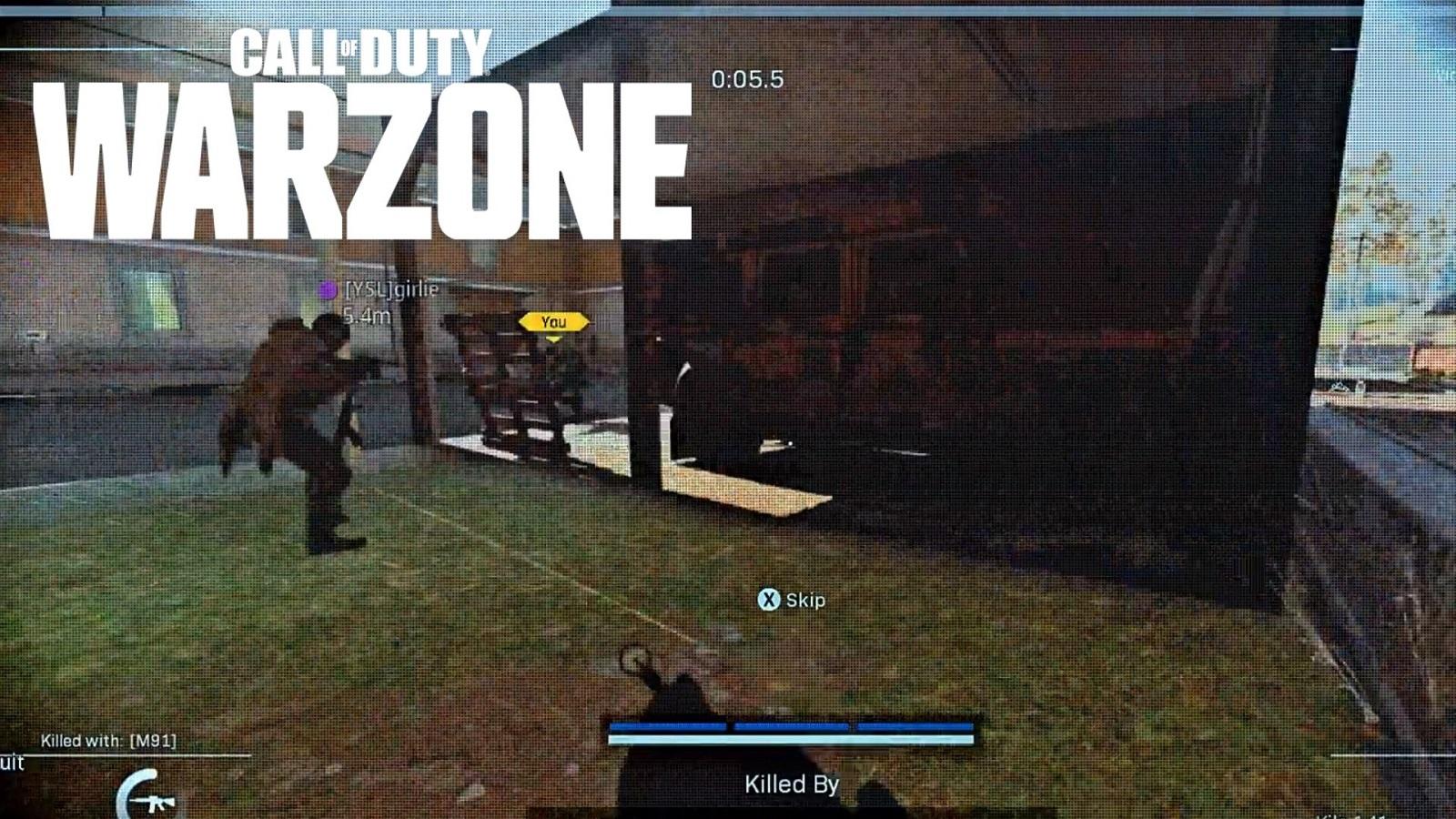 Warzone wall glitch