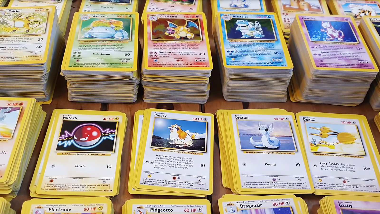 Screenshot of YouTubers viral Pokemon Card collection worth millions.