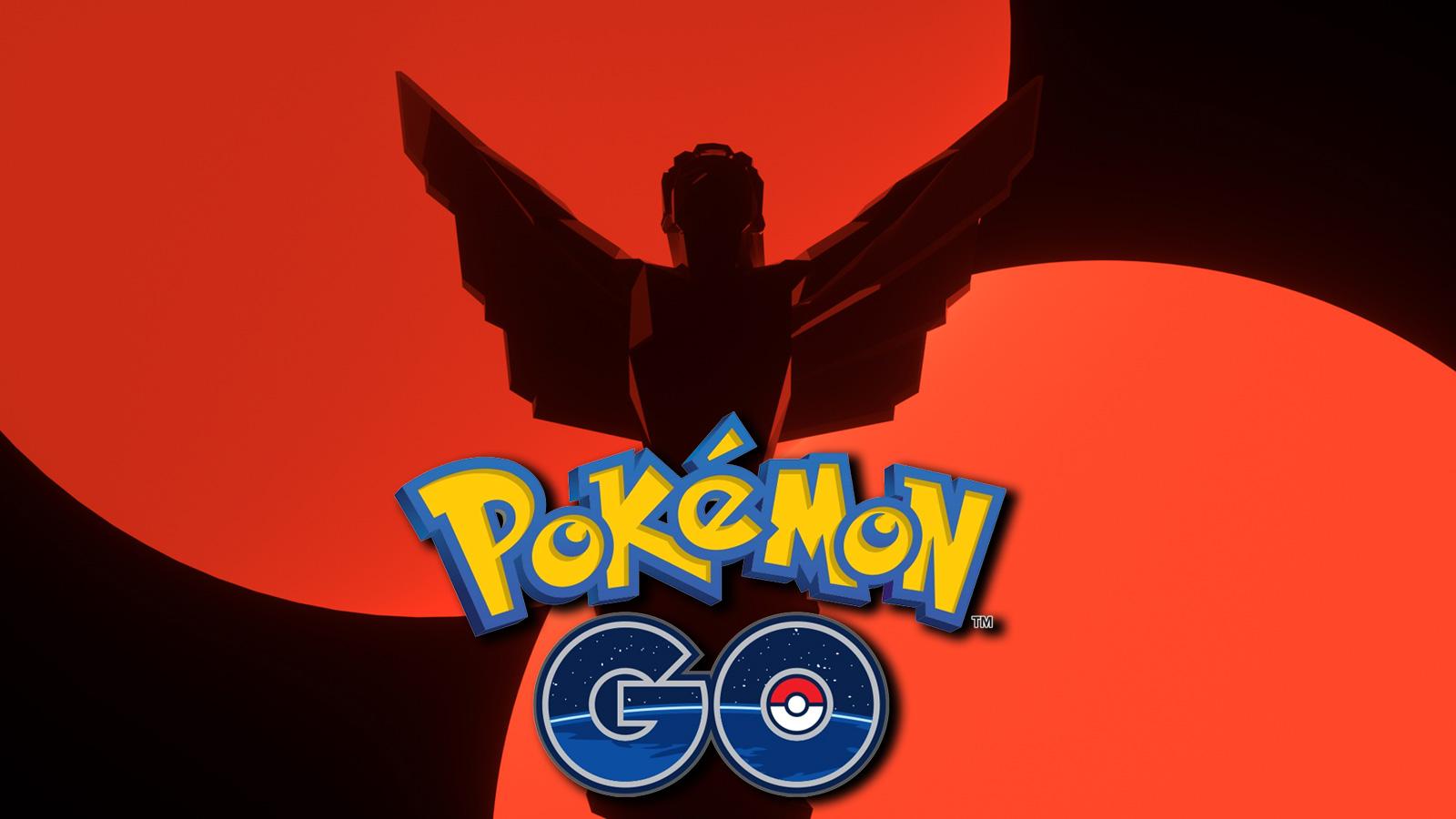 The Game Awards 2020 promotion next to Pokemon GO logo.