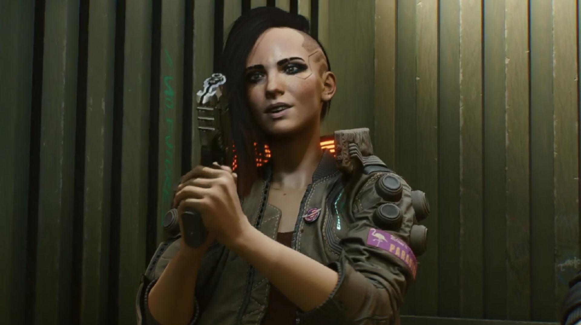 Screenshot of Cyberpunk 2077 protagonist V.