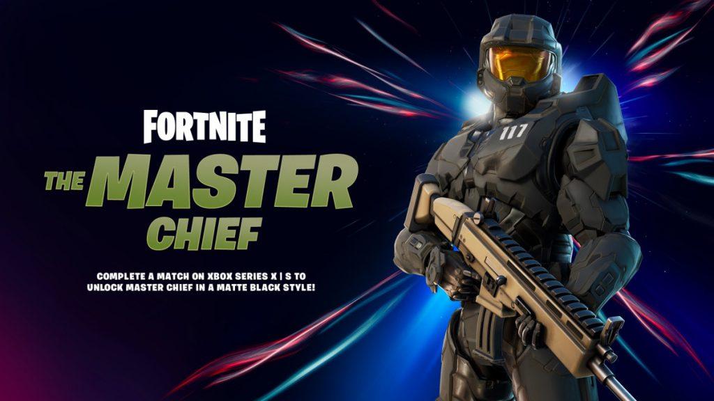 Matte black Master Chief in Fortnite