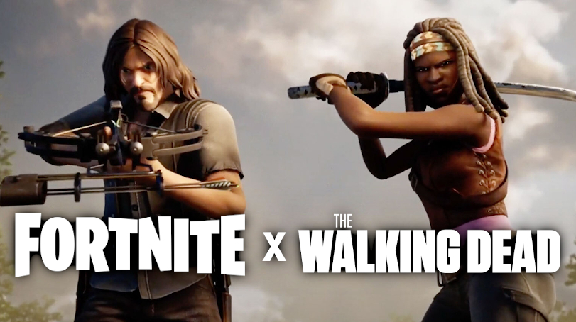 fortnite walking dead crossover