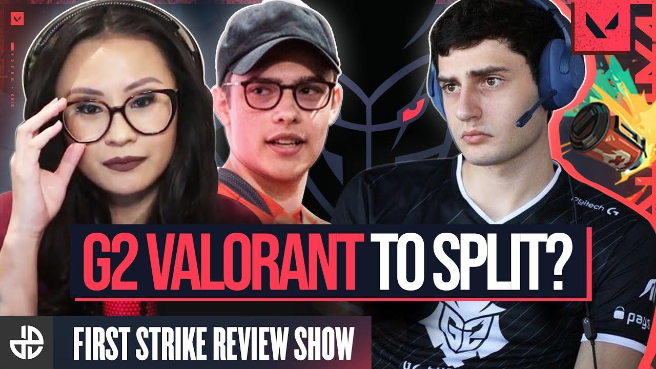 Thumbnail discussing G2 Valorant's splitting