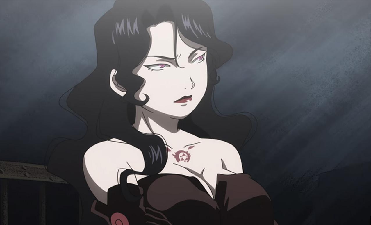 Screenshot of Lust from Fullmetal Alchemist: Brotherhood anime.