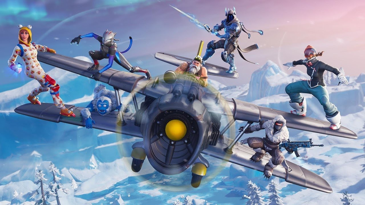 fortnite winter planes with characters on the wings