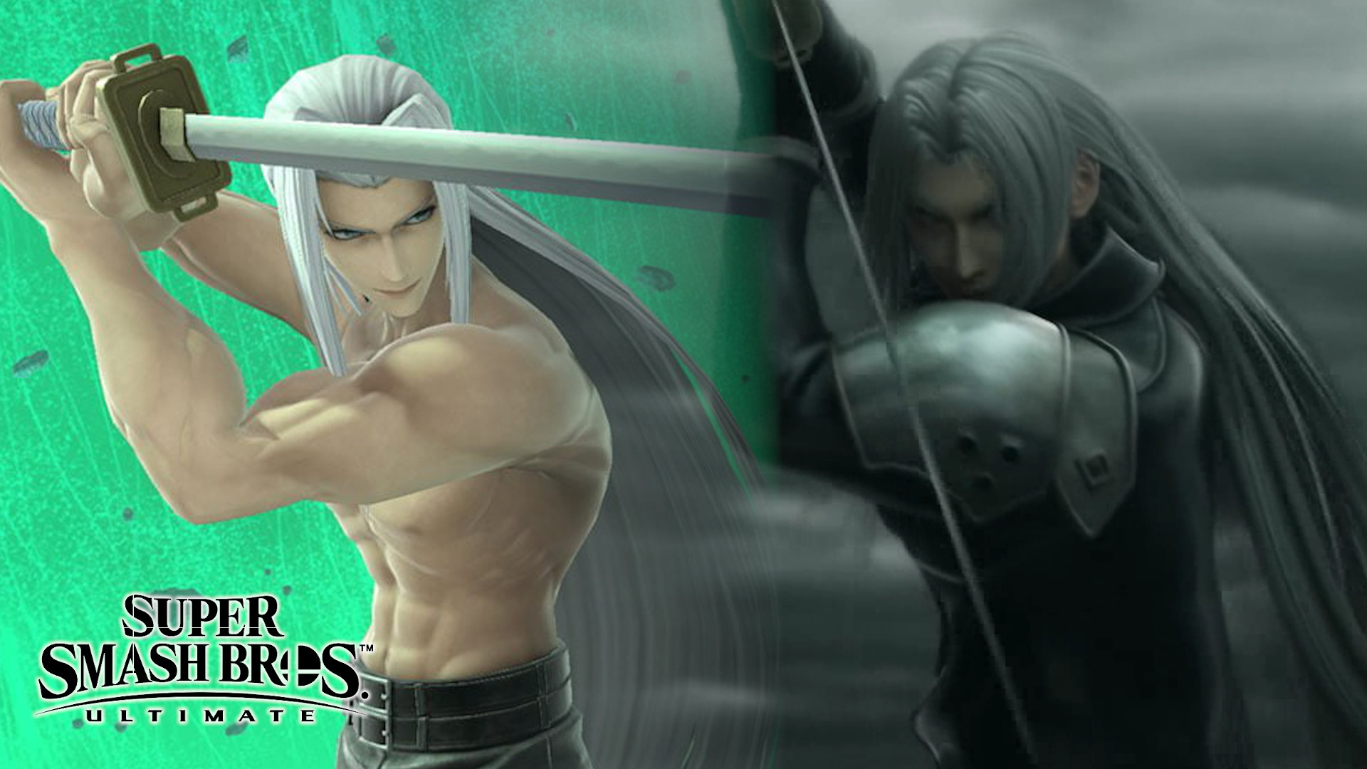 super smash bros ultimate sephiroth ff7 advent children