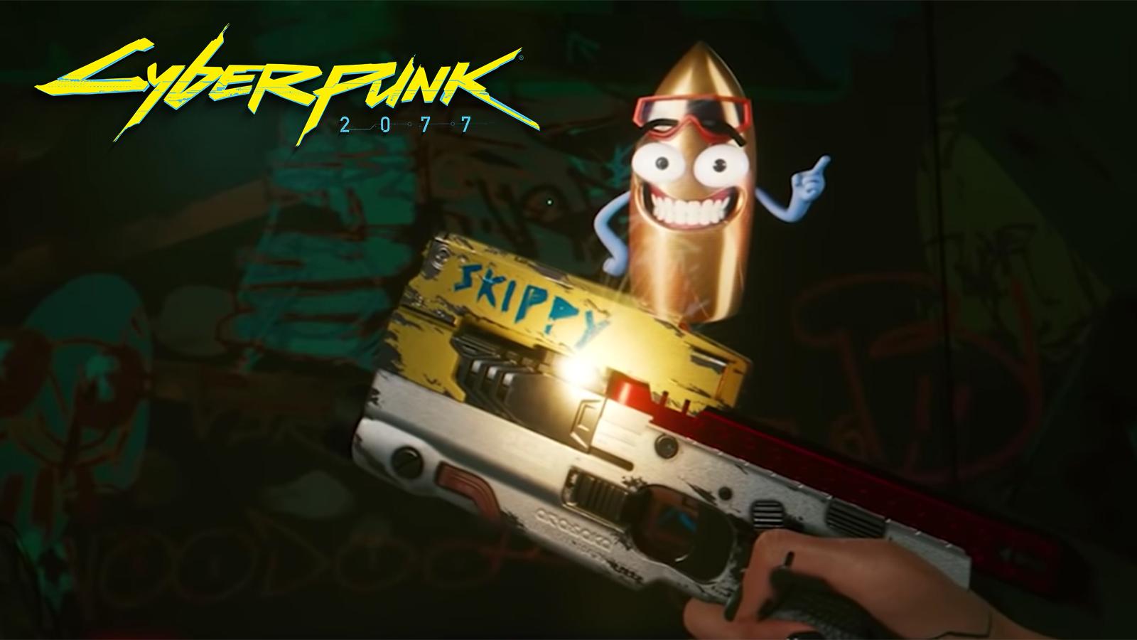 Skippy talking gun Cyberpunk 2077