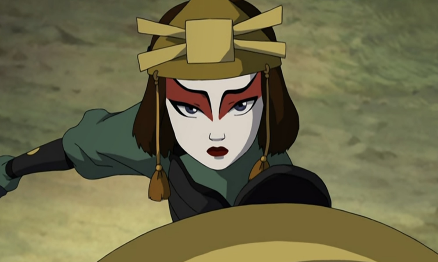 Screenshot of Suki from Book 3 of Avatar: The Last Airbender.