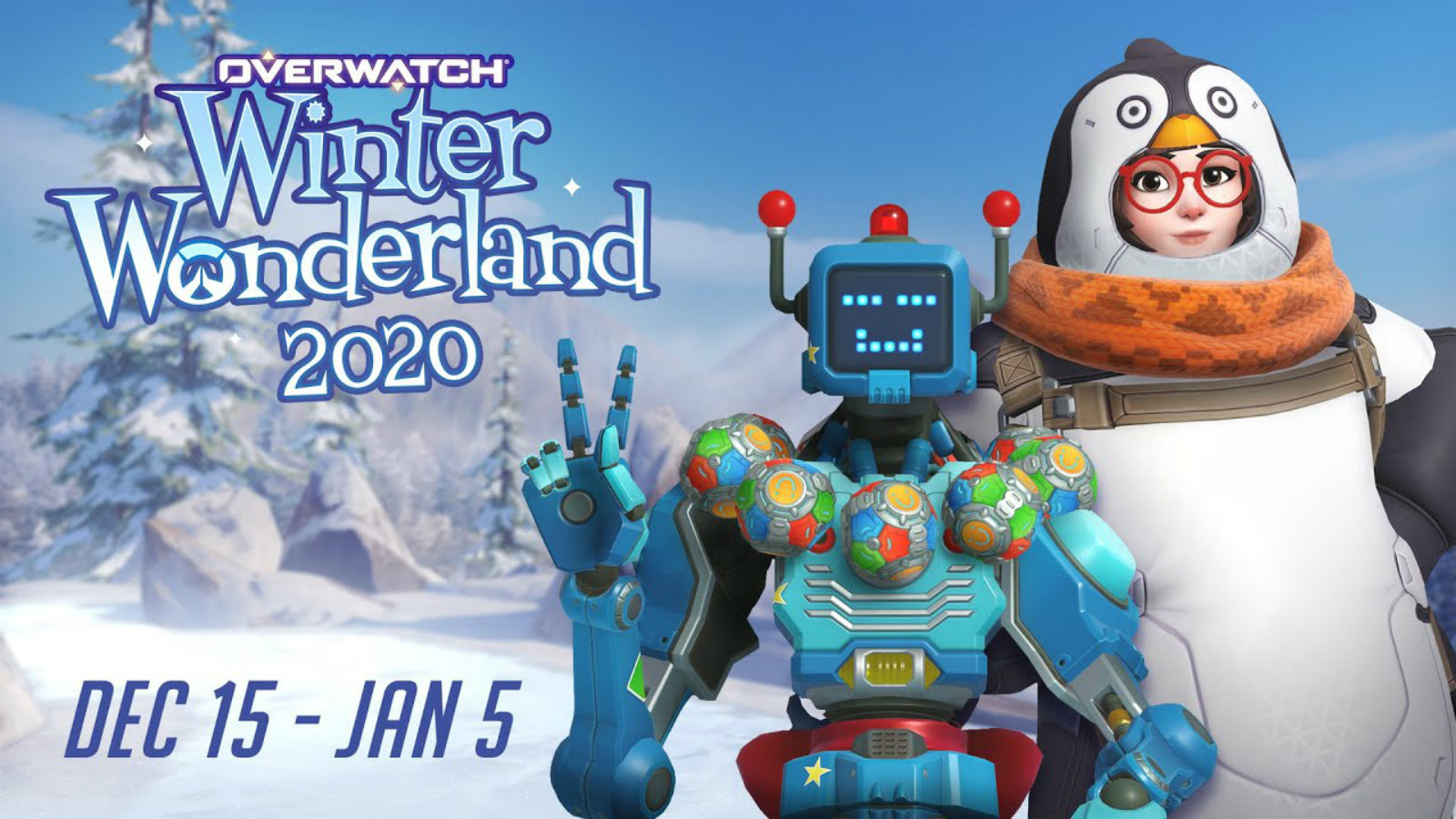 Overwatch winter wonderland 2020 with mei and zen