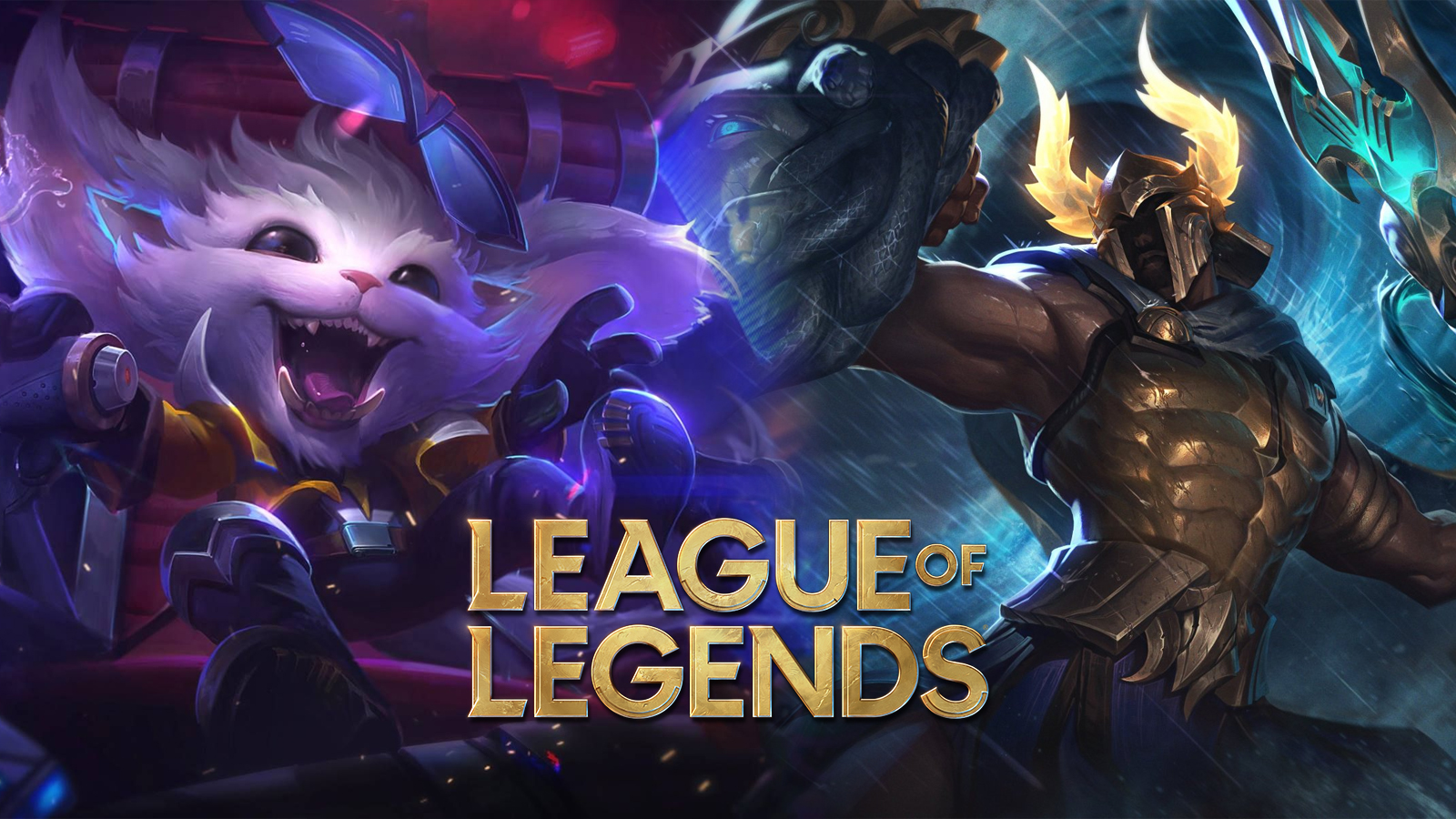 Super Galaxy Gnar and Perseus Pantheon in League of Legends
