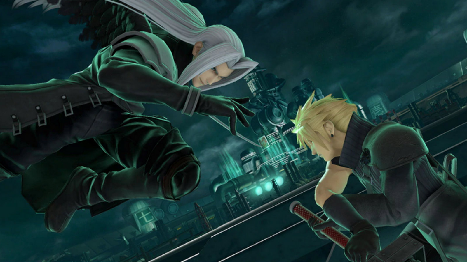 Cloud and Sephiroth fight in Smash Ultimate