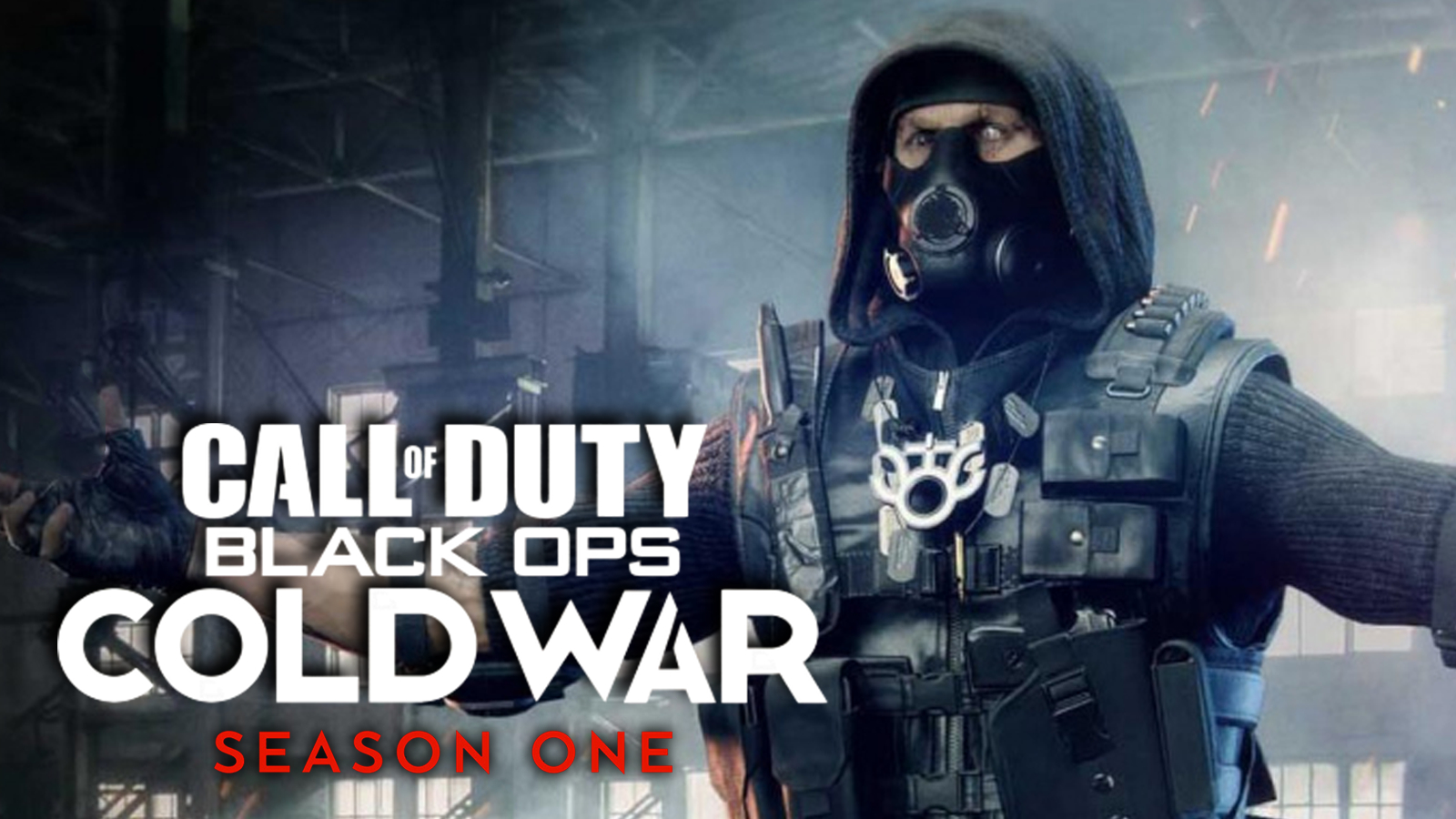 Warzone op Stitch looms over the Black Ops Cold War Season 1 logo.