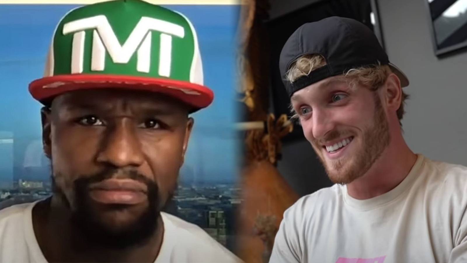 Logan Paul shares FaceTime call with Floyd Mayweather