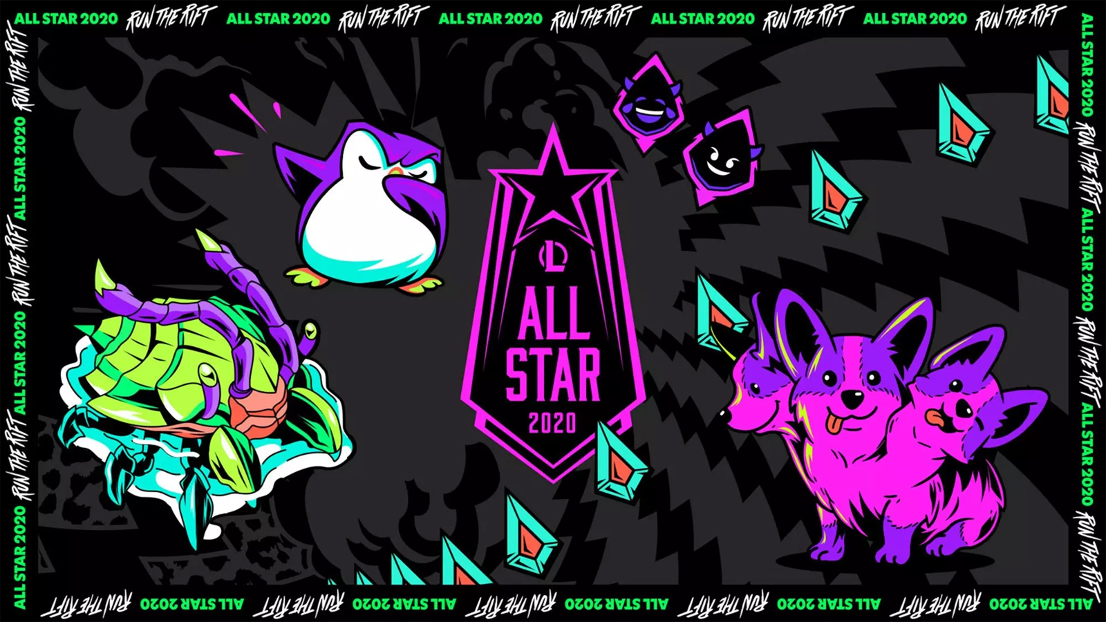 League of Legends 2020 All-Star header