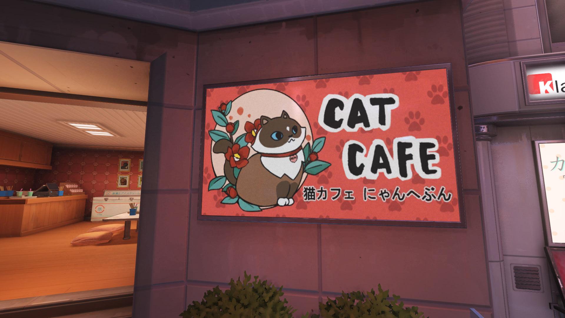 Kanezaka Cat Cafe Overwatch