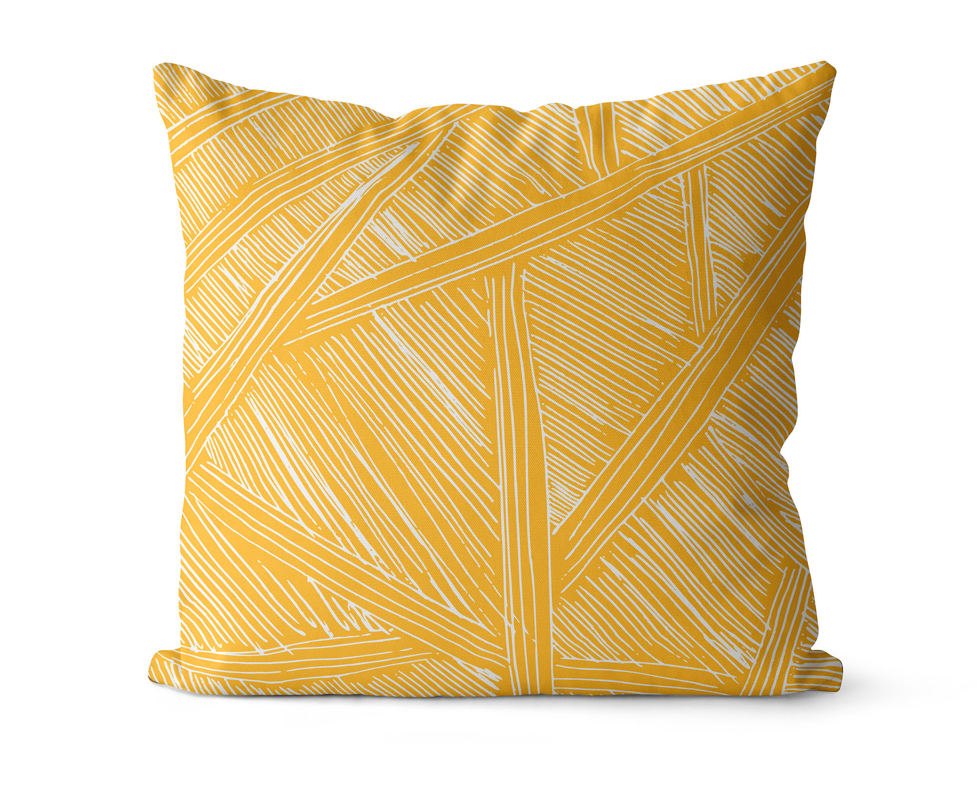 yellow pillow cover