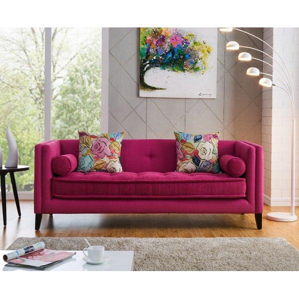 dark pink sofa